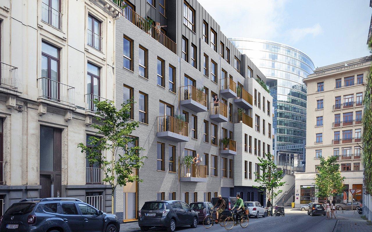 Image depuis rue Résidence Schuman Urbicoon