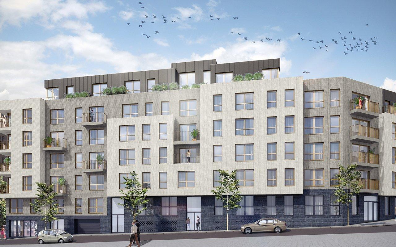 gevel Residentie Schuman in Brussel