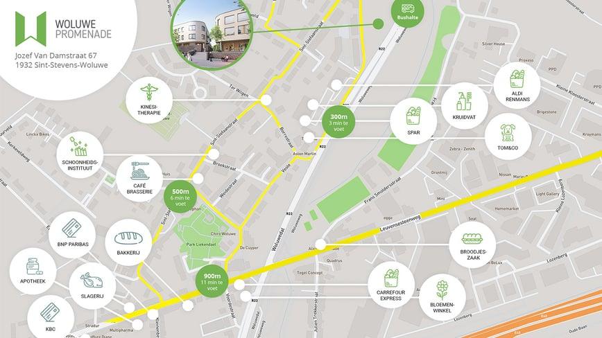 Map Woluwe Promenade