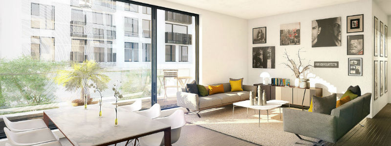 detail luxe intérieur Résidence Schuman Urbicoon