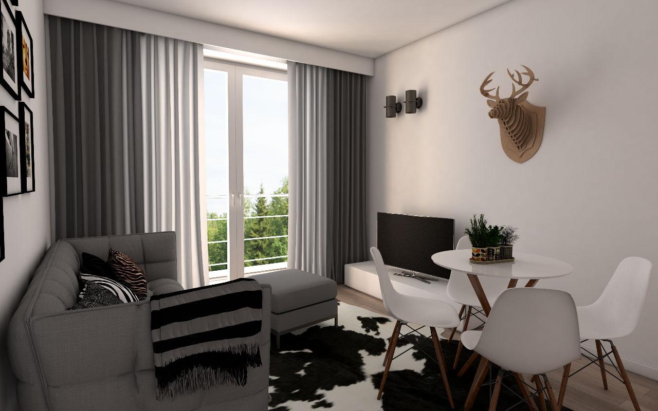 woonruimte studio Residentie Pascale