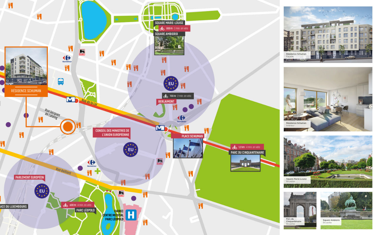 plan localisation Résidence Schuman FR detail