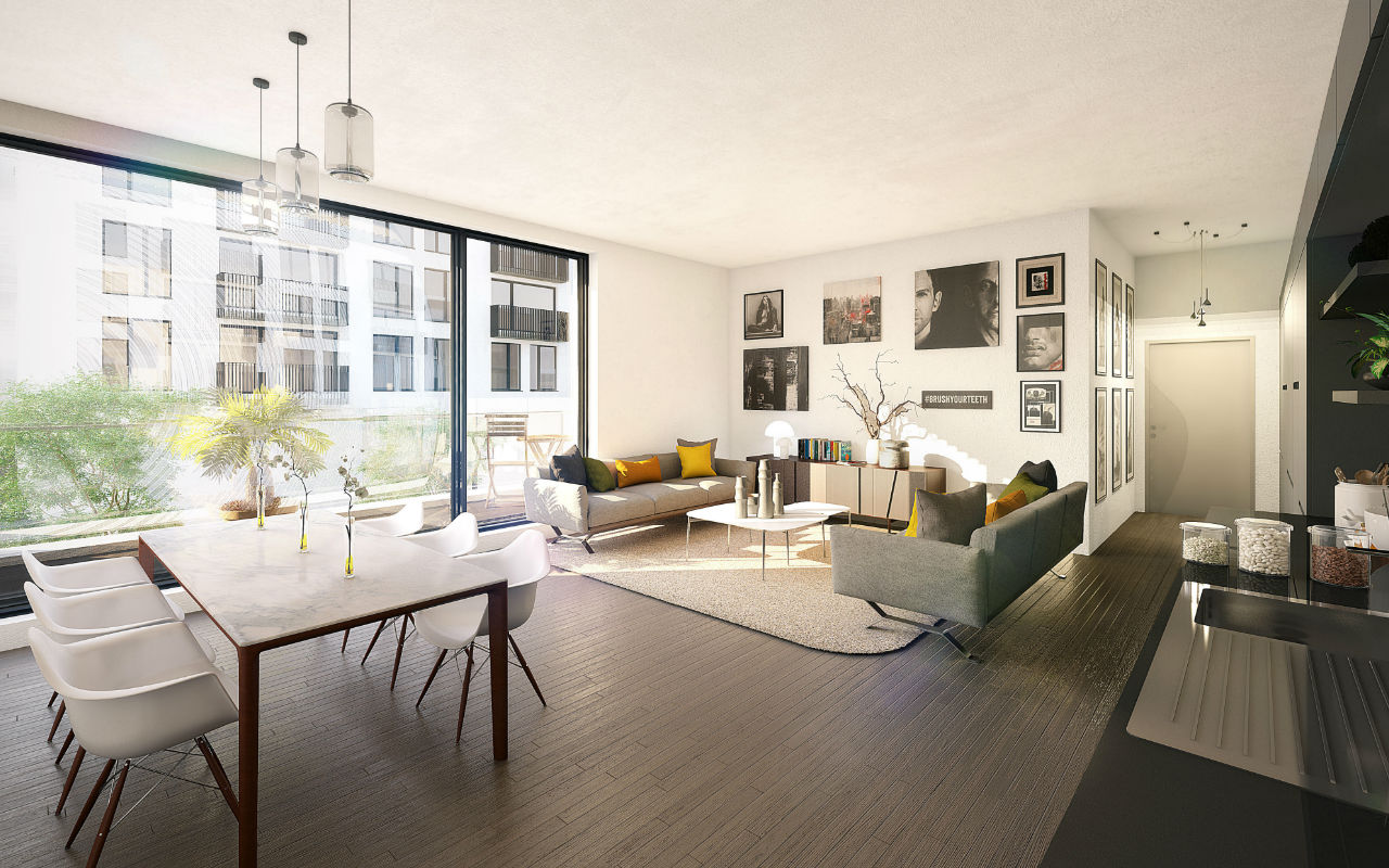 luxe interieur Residentie Schuman Urbicoon